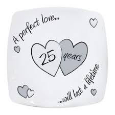 25th wedding anniversary plates silver wedding anniversary bone china plate