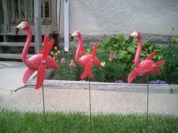 twirling pink flamingos yard lawn ornaments set of 60 85 99