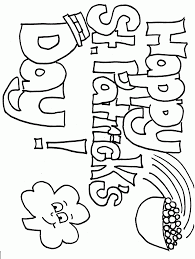 top 10 st patricks day coloring pages for kids
