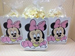 baby minnie mouse baby shower baby minnie mouse party or baby shower popcorn or favor boxes