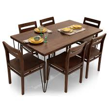 Six Seater Dining Table And Chairs Oslo Barcelona 6 Seater Dining Table Set Lock And Pull