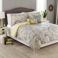Gold And Grey Bedroom by Better Homes And Gardens Yellow Paisley 5 Piece Comforter Set