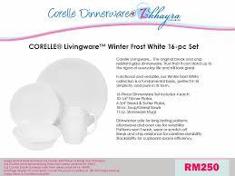 Corelle Livingware 16 Piece Dinnerware Set Winter Frost White Pre Order Corelle Dinnerware Sets Corelle 16 Pcs Livingware