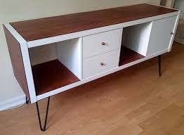 Stand Up Desk Ikea Hack by Ikea Kallax Sideboard Hack 50s Furniture Ikea Hack And Ikea Hackers