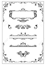 ornamental scroll border nameplate and design elements