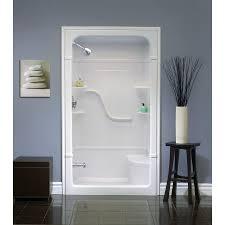Bathroom Shower Stalls With Seat Stunning Modern Bathroom With Fiberglass Shower Stall Seat Lowes