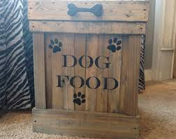 Decorative Dog Food Storage Container - dog food container pet food storage dog food storage