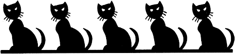 black cat clipart border pencil and in color black cat clipart