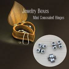 mini concealed small invisible soss hinge mortise refined look jewelry boxes mini
