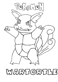 wartortle pokemon coloring page