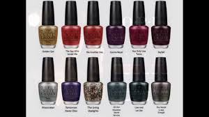 opi nail polish skyfall collection for winter 2012 youtube