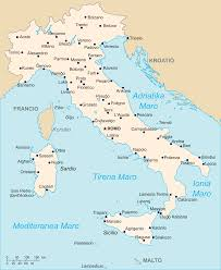 Map Of Italy With Regions by Map