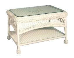 white wicker coffee table charlottetown white all weather wicker