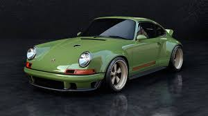 green porsche singer williams porsche 911 subtracts weight and adds power in one