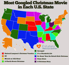 Kentucky Map Usa by Favorite Christmas Movie Map Woooo Scrooged Nerdvikings Like