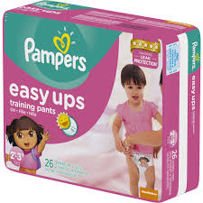 pampers easy ups girls training pants size 2t 3t 116 pants