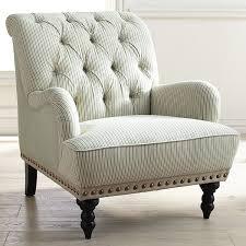 White Leather Arm Chair Chair Fascinating Chas Blue White Seersucker Armchair Pier 1