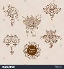 hand drawn set ornament floral elements stock vector 547019938