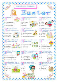 184 free esl easter worksheets