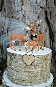 deer family wedding cake topper camouflage buck doe family hunting