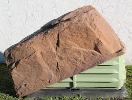 fake rock covers the septic coverisland area and you can see the