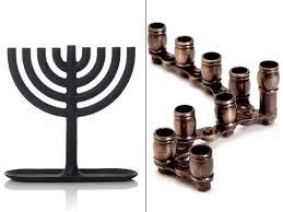 simple menorah oy to the world menorahs for hanukkah ny daily news