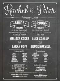 chalkboard wedding program radnor pa wedding framed chalkboard wedding