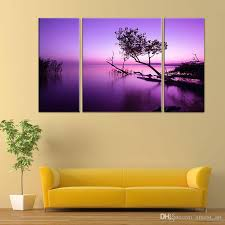 2017 3 picture combination purple light black tree abstract