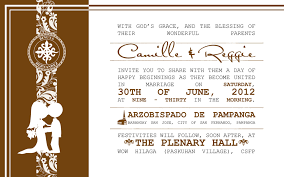 Sample Of Wedding Program Sample Of Wedding Invitation Layout Traditional Wedding
