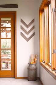 chevron wood wall set of three wood arrow wall gather green