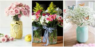 jar centerpieces 13 pretty jar flower arrangements best floral centerpieces