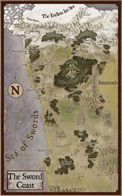 Maps Good The Sword Coast Forgotten Realms Stock Maps Dungeon Masters