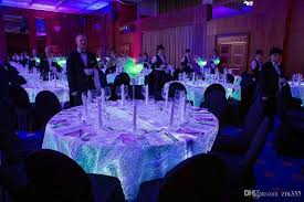 Luxury Homes Decorated For Christmas Luxury Glowing Wedding Decoations Textiles Talbecloths Rgb Led