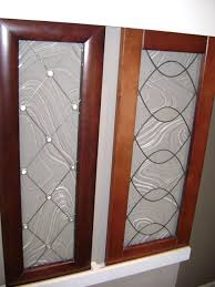 glass inserts for kitchen cabinets how to install cabinet glass