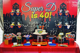 Birthday Decoration Ideas For Adults Greygrey Designs My Parties Super D U0027s Super Fabulous Superhero