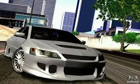 mitsubishi evo 7 stock mitsubishi lancer evolution x stance work for gta san andreas
