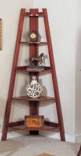 Corner Bookcase Cherry 5 Tier Wooden Corner Bookshelf In Cherry Finished