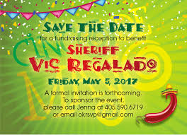 Fundraising Invitation Card Three Years Away From Election Cycle Sheriff Vic Regalado To Hold