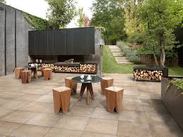 patio tiles cheap patio floor ideas with wooden chairs round