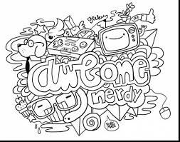 amazing doodle art alley coloring pages rainbow with awesome