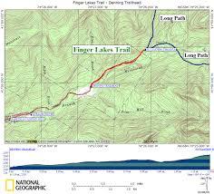 Finger Lakes New York Map by Flt Denning Trailhead