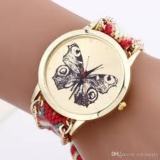 bracelet design watches images Beautiful fashion ladies butterfly design bracelet watch women jpg