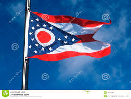 Christopher Columbus Flag Closeup Ohio Flag Usa State Stock Illustration Image 91172385
