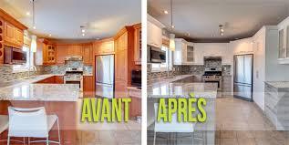 cuisine avant apr鑚 refacing d armoires éco cuisine design