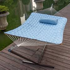 Patio Furniture Foot Pads by Feet Steel Hammock Stand With Cotton Hammock Combo Quilted