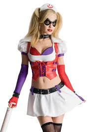 halloween costume city harley quinn arkham city asylum nurse cosplay halloween
