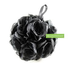 black flower balls pomander balls flower balls for wedding