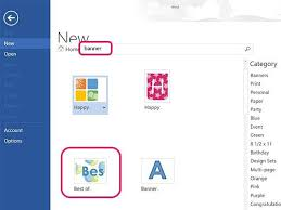 creating a banner in word how to make banners in word 5 steps