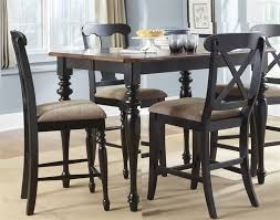 counter height gathering table court x back chairs 5 piece counter height gathering table set in