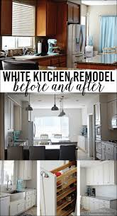 Kitchen Makeover Before And After - white kitchen remodel before and after